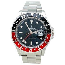 """Rolex-Rolex """"GMT Master II-Coke"""" watch in steel.-Other"""