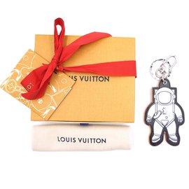 Louis Vuitton-Louis Vuitton Silver Spaceman Key Ring Chain Charm-Multicolore