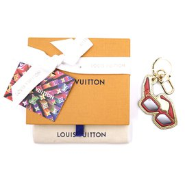 Louis Vuitton-Louis Vuitton Rouge 1.1 Breloque porte-clés monogramme lunettes de soleil millionnaire-Multicolore