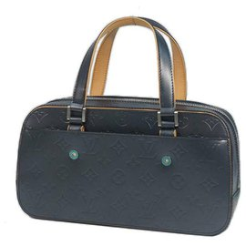 Louis Vuitton-Louis Vuitton Shelton Womens Boston bag M55175 blue-Blue