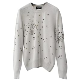 Chanel-Chanel 14A Rhinestones Cashmere Sweater Sz 40-Multiple colors