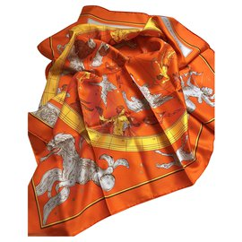 Hermès-Echarpes-Orange