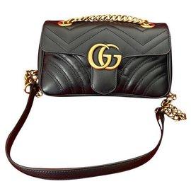 Gucci-GG Marmont matelassé mini bag-Black