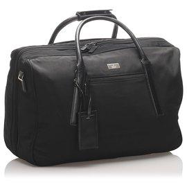 Gucci-Gucci Black Nylon Travel Bag-Black
