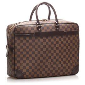 Louis Vuitton-Louis Vuitton Brown Damier Ebene Porte-Documents Voyage-Brown