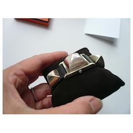Hermès-HERMES Médor watch in excellent condition-Black