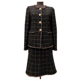 Chanel-10K$ tweed suit-Black