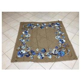 Gucci-gucci floral scarf brand new shawl sciarpa escharpe-Multicolore
