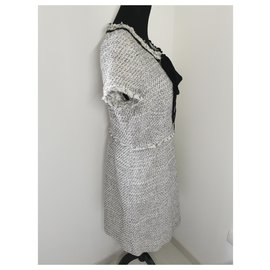 Weill-Carel Weill dress-Black,White,Multiple colors,Other,Eggshell