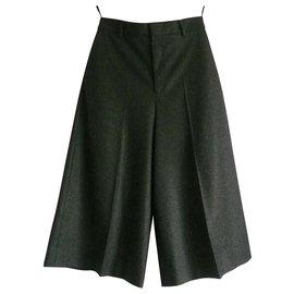 Céline-CELINE Jupe culotte laine neuve avec étiquette T36-Gris anthracite
