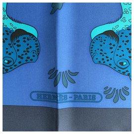 Hermès-Silk scarves-Mustard