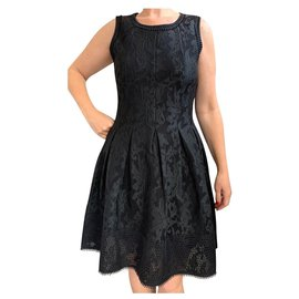 Bel Air-New Bel Air dress size 2 matches 38 Fully lined Folded Skater-Black