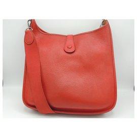 Hermès-Hermes bag Evelyne-Red
