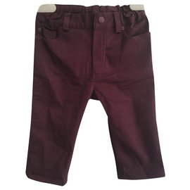 Christian Dior-Pants-Dark red