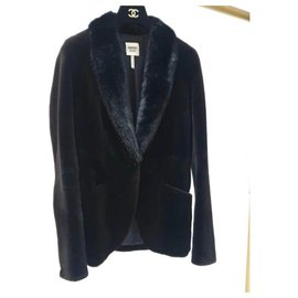 Hermès-Hermes Black Mink Fur Coat Jacke-Black