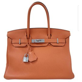 Hermès-HERMES BIRKIN 30 Orange Leather Handbag  View Similar Items  HomeFashionHandbags and PursesShoulder Bags  Request additional images or videos from the seller  CONTACT SELLER  Request additional images or videos from the seller  CONTACT SELLER  19 OF 19  HERMES BIRKIN 30 Orange Leather Handbag-Orange