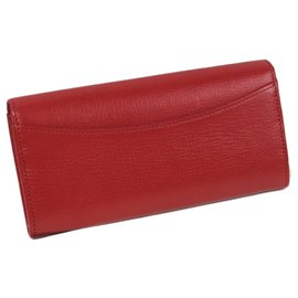 Mulberry-Mulberry Red Leather Long Wallet-Red