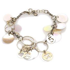 Chanel-Chanel Gold Multi Charm Bracelet-Multiple colors,Golden