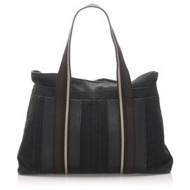 Hermès-Hermes Black Sac Troca Horizontal MM-Brown,Black