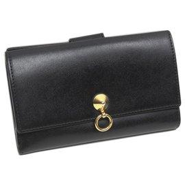 Fendi-Fendi Black By The Way Leather Long Wallet-Black