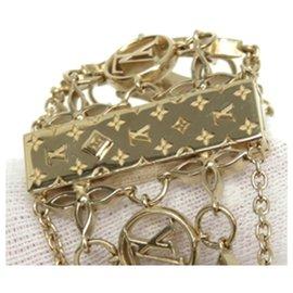 Louis Vuitton-Bracelet filigramme en laiton doré Louis Vuitton-Doré