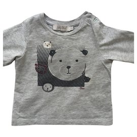 Christian Dior-Baby grey cotton T-shirt-Grey