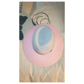 Maison Michel-Hats-Pink,Grey
