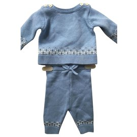 Jacadi-Blue baby outfit-Blue