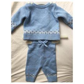 Jacadi-Tenue bébé bleu-Bleu