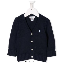 Ralph Lauren-Cable knit cardigan-Navy blue