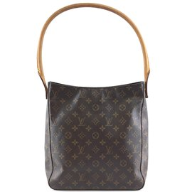 Louis Vuitton-Toile monogrammée Louis Vuitton Looping GM-Marron