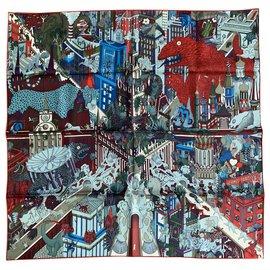 Hermès-Silk scarves-Multiple colors