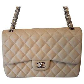 Chanel-Chanel Timeless Jumbo-Beige