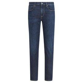 Ermenegildo Zegna-ZEGNA Jeans In Stretch Cotton Denim-Blue