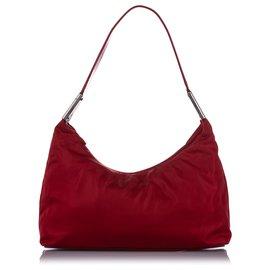 Prada-Prada Red Tessuto Shoulder Bag-Red