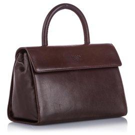Prada-Prada Brown Leather Handbag-Brown