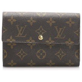 Louis Vuitton-Louis Vuitton Brown Monogram Sarah Wallet-Brown