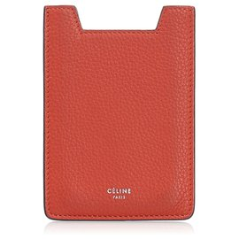 Céline-Celine Red Leather Case-Red
