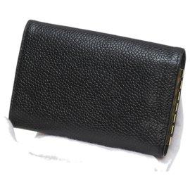 Chanel-Chanel Black CC Caviar Key Holder-Black