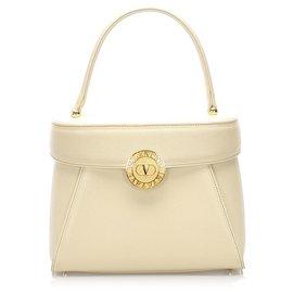 Valentino-Valentino White Leather Handbag-White