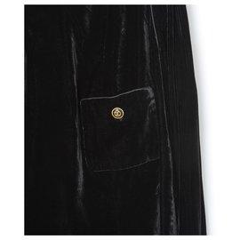 Chanel-HAUTE COUTURE VELVET BLACK FR36/38-Black