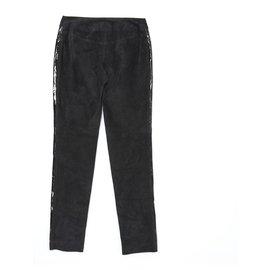 Chanel-BLACK LEATHER FR38-Black