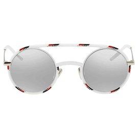 Dior-Christian Dior Femme DIORSYNTHÈSE01-Des lunettes de soleil-Blanc,Multicolore