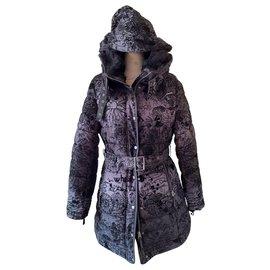 Desigual-Manteaux, Vêtements d'extérieur-Noir,Gris