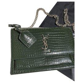 Saint Laurent-YSL SUNSET bag-Green