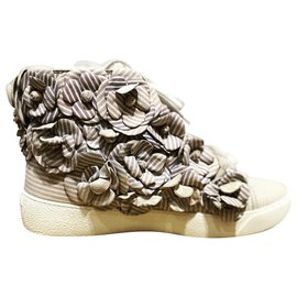 Chanel-Sneakers-White,Light blue