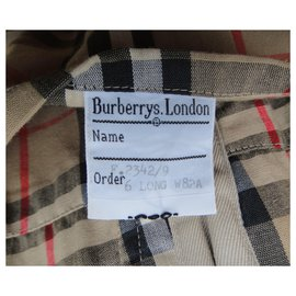 Burberry-womens Burberry vintage t trench coat 34/36-Beige