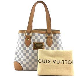 Louis Vuitton-Louis Vuitton Hampstead PM Damier Azur Canvas-White