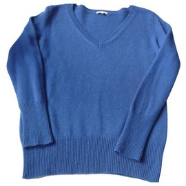 Autre Marque-LOXWOOD Mixed royal blue cashmere sweater Mint condition TXL-Dark blue
