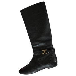 Chloé-Chloé leather boots-Black
